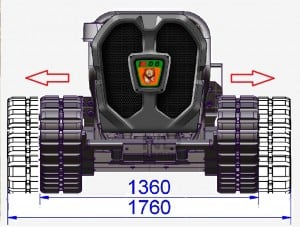 Green Climber LV-600-widening-tracks